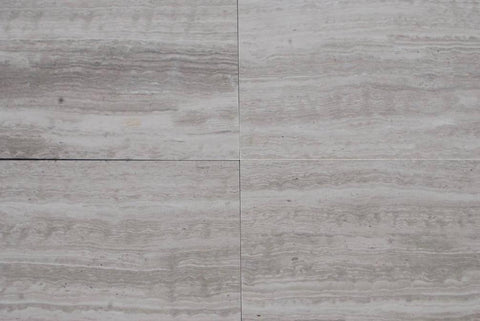 "White Wood Marble Tile - 6"" x 36"" x 5/8"" Honed"