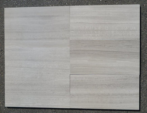 "White Wood Marble Tile - 6"" x 36"" x 5/8"""