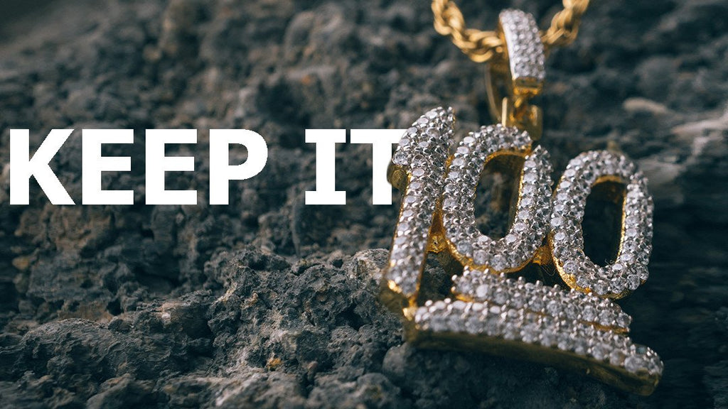 b268c02275b97 18k Gold Iced Out 100 Emoji New & Hot Hip Hop Pendant from Niv's Bling