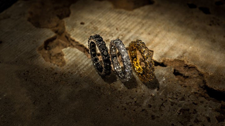Hip Hop Gold, Black Gold, White Gold Plated Iced Out Rings - Niv's Bling