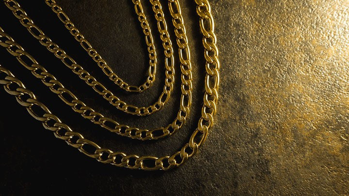 Hip Hop Gold Plated Figaro Chains from Niv's Bling