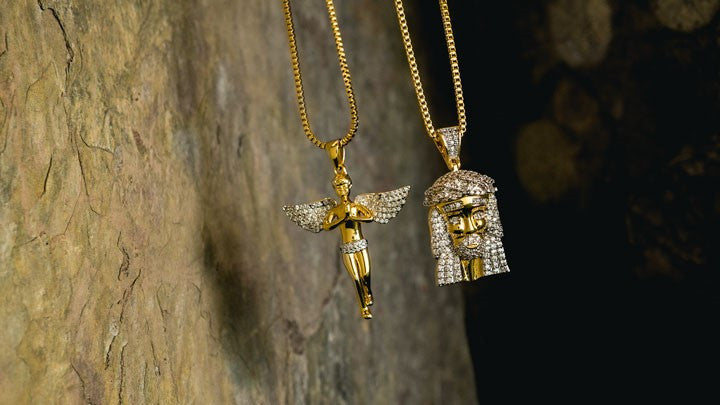 Hip Hop Gold Plated Iced Out Pendants - Niv's Bling