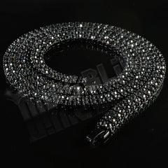 14k Black Gold Iced 2 Row Chain