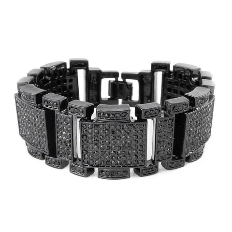 14k Black Gold Iced Out Mini Goliath Bracelet