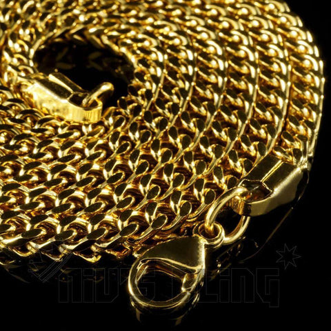18K 4mm Gold Franco Chain