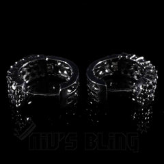 18K Black Gold 3 Row Huggie Hoop Earring