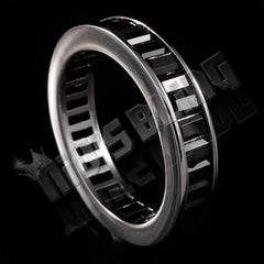 18K Black Gold Baguette Cut Eternity Ring