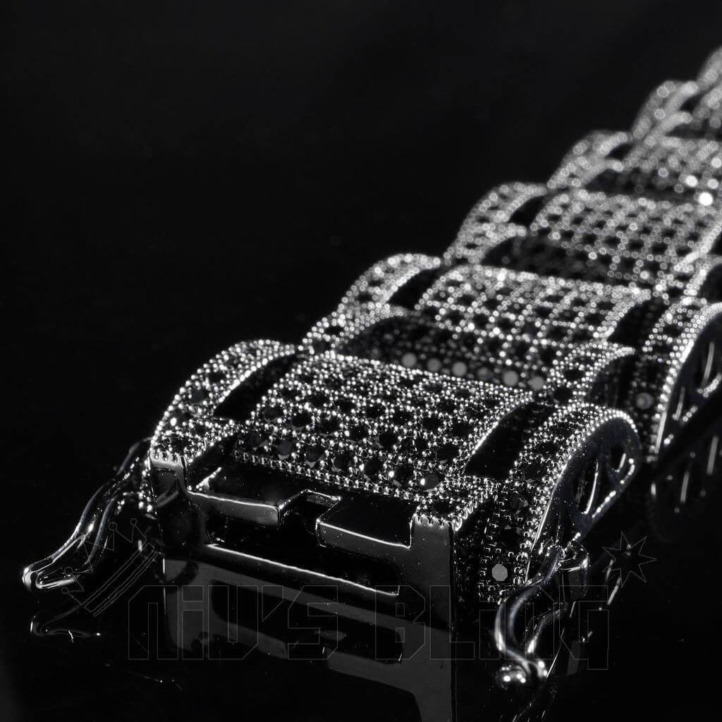 18K Black Gold Iced Out Hercules Bracelet