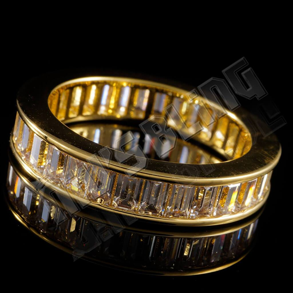 18K Gold Baguette Cut Eternity Ring