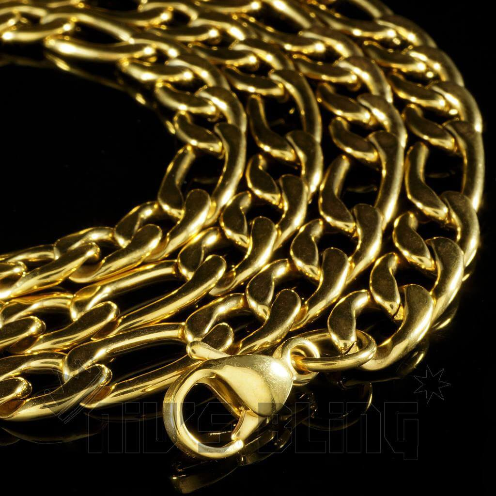 18K Gold Figaro Chain