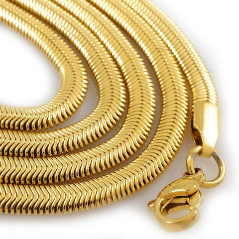 Gold necklaces chains on sale at nivs bling 18k gold herringbone snake chain aloadofball Images