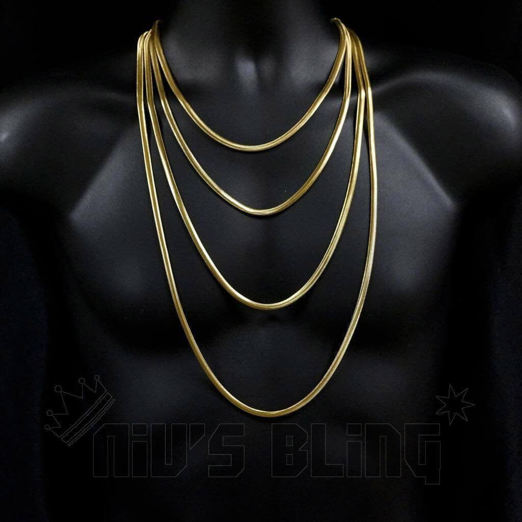 18K Gold Herringbone Snake Chain