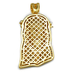 18K Gold Iced Bandana Jesus Piece With Rope Chain