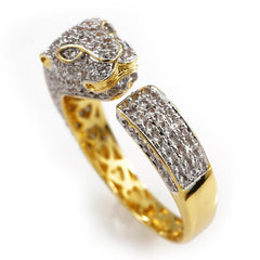 18K Gold Iced Out Panther Jaguar Ring