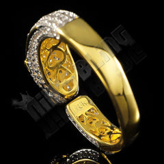 18K Gold Iced Panther Jaguar Ring