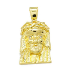 Affordable 18K Gold Jesus Piece 6 With Hip Hop Chain - Front View