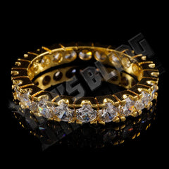 Affordable 18K Gold Promise Eternity Ring - Front View