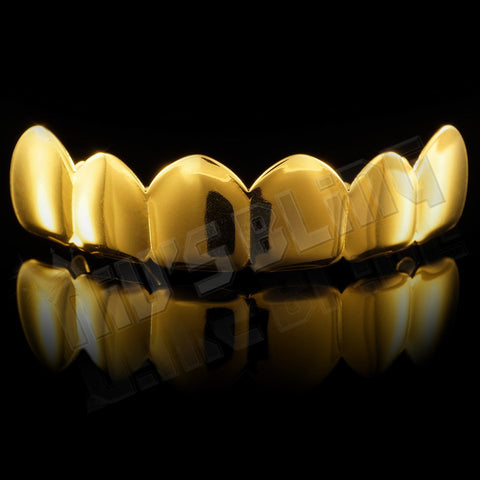 Affordable 18K Gold Plated 6 tooth Hip Hop Grillz - Top Grill