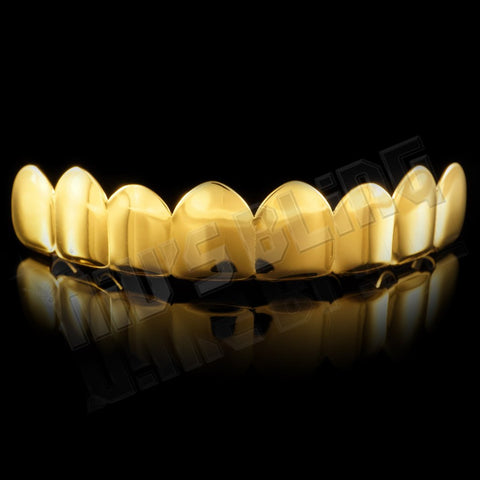 Affordable 18K Gold Plated 8 Tooth Hip Hop Grillz - Top Grill
