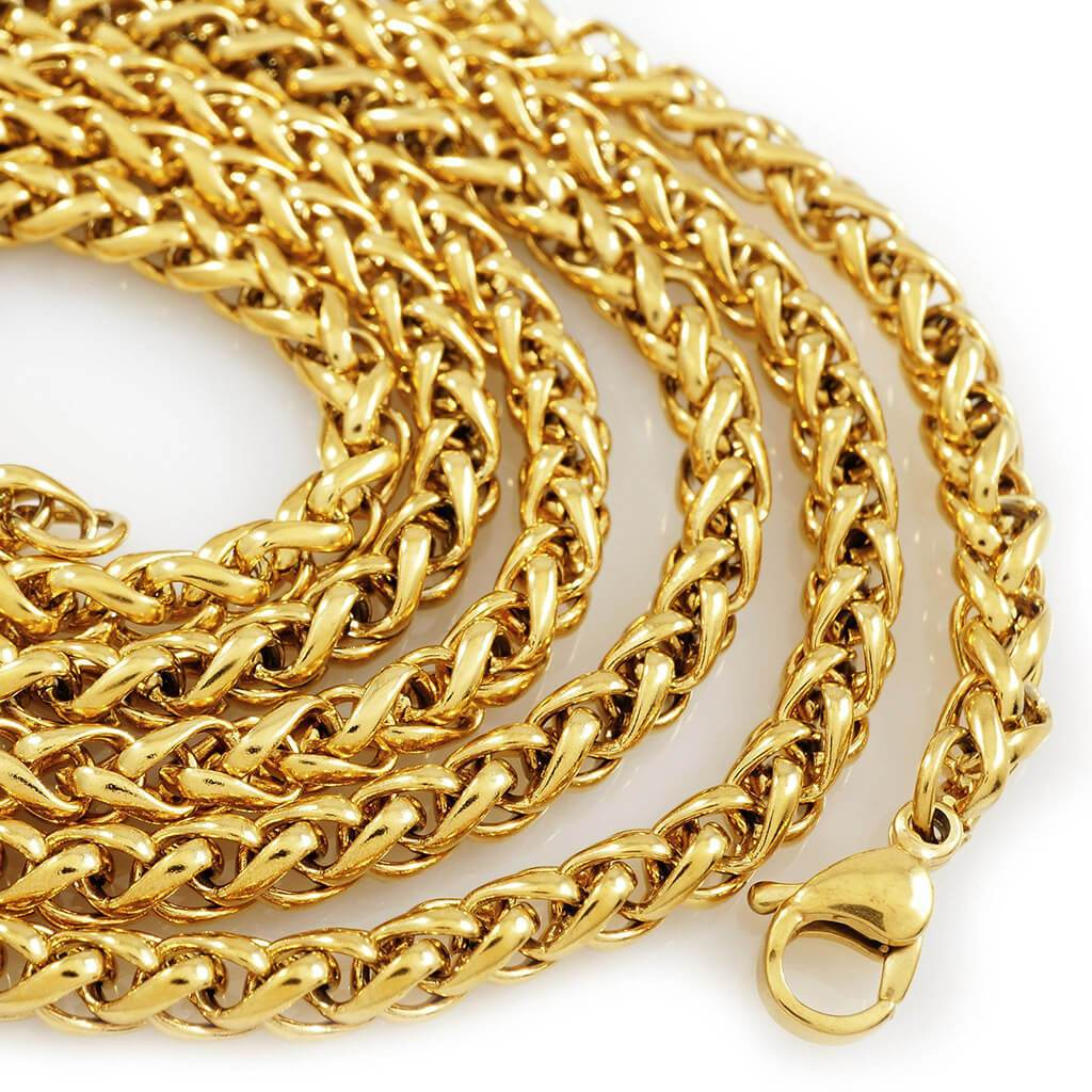 18k Gold Wheat Chain Niv S Bling