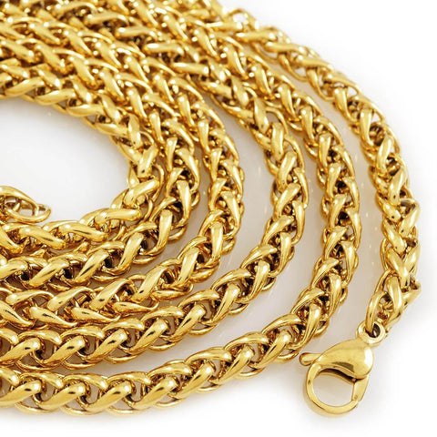 18K Gold Wheat Chain