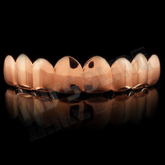 18K Rose Gold Plated Stainless Steel 8 Tooth Grillz