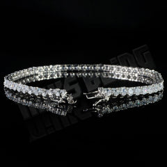 18K White Gold 1 Row Tennis Bracelet