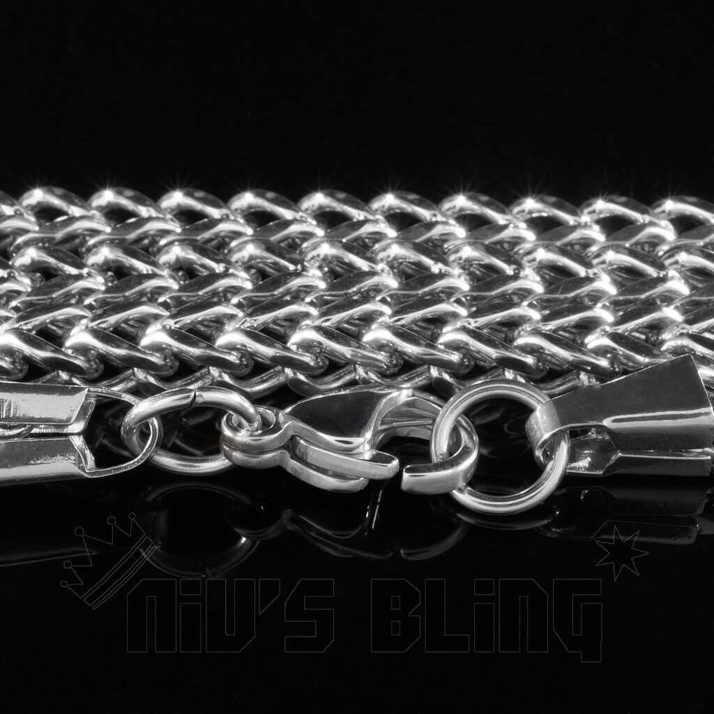 18K White Gold 4mm Franco Chain