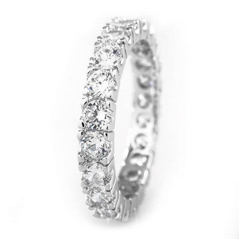 18K White Gold Promise Eternity Ring