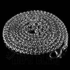 18K White Gold Wheat Chain