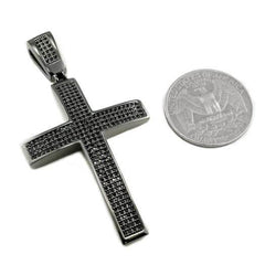 Affordable 18k Black Gold Jesus Cross 1 With Rope Hip Hop Chain - Coin Comparison