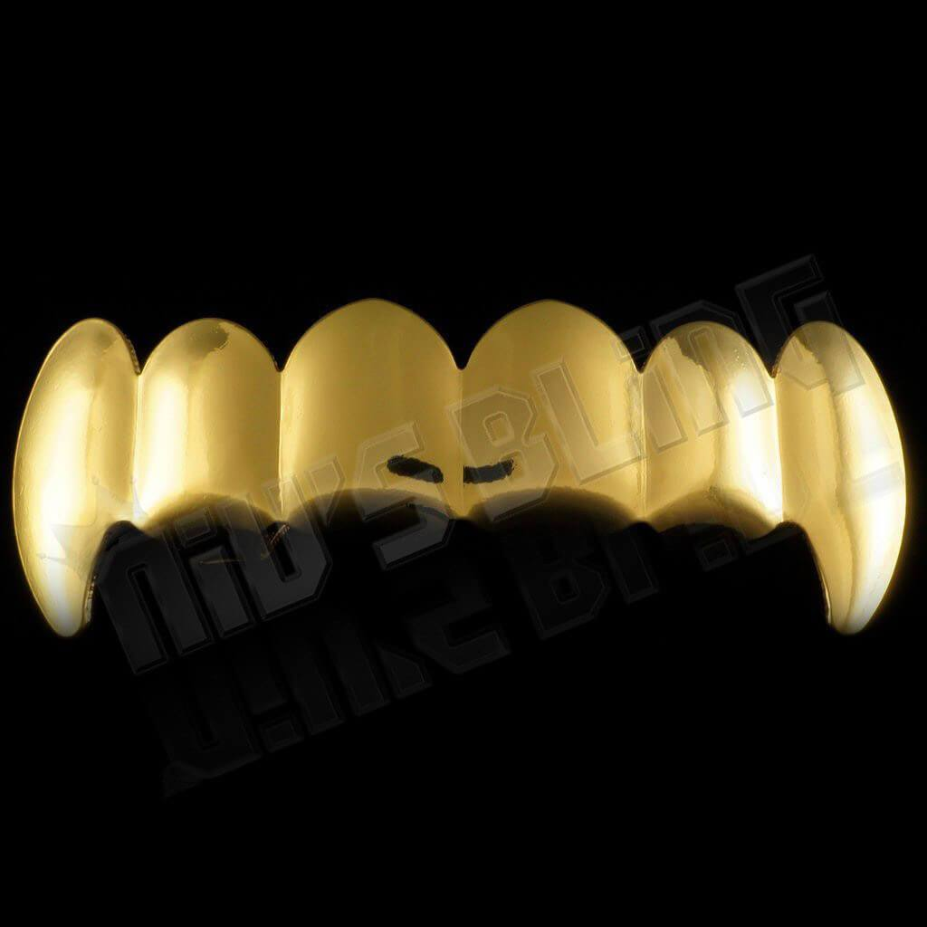 Affordable 18K Gold Vampire Fang Hip Hop Grillz - Top Grill