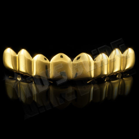Affordable 14k 8 Tooth Gold Hip Hop Grillz - Top Grill