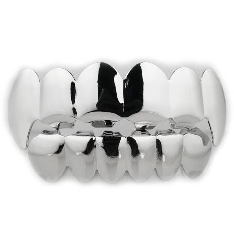 Affordable - 14k Silver Vampire Fang Grillz