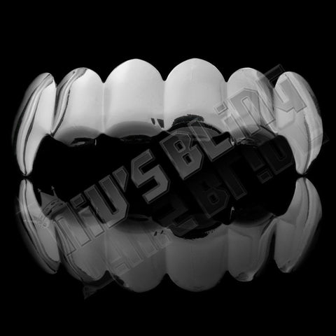 Affordable 14k Silver Vampire Fang Hip Hop Grillz - Top Grill