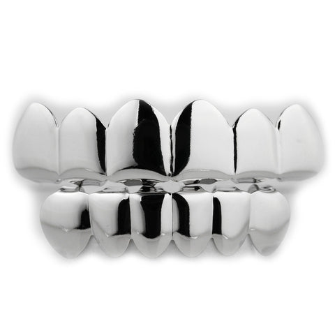 Affordable - 14k 6 Tooth White Gold Grillz