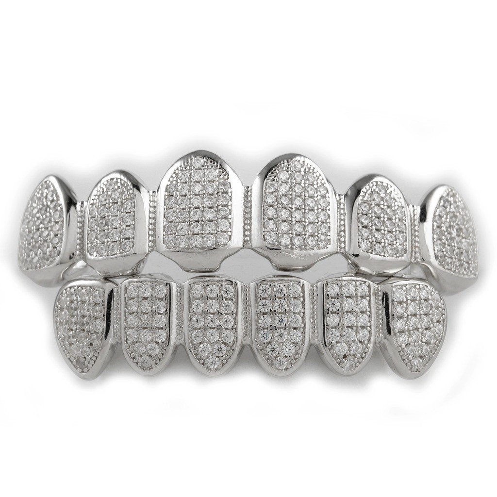 .925 Sterling Silver Top Bottom Grillz – Niv s Bling ab48d9877919