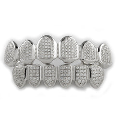 .925 Sterling Silver Top Bottom Grillz