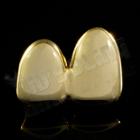 Gold Double Top Two Tooth Cap