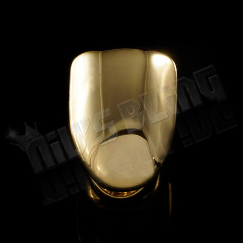 Affordable Gold Single Tooth Bottom Hip Hop Grill Cap - Black Background