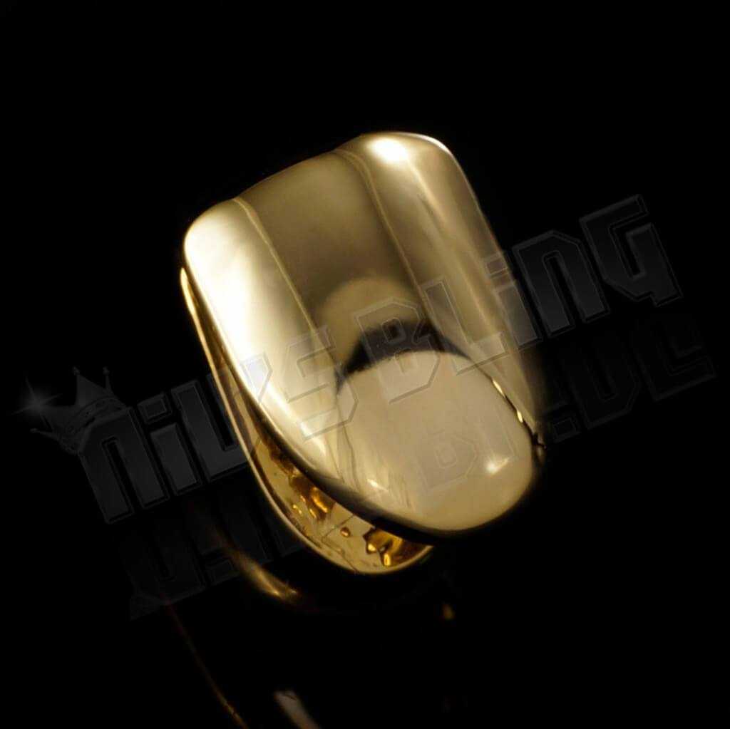 Affordable Gold Single Tooth Bottom Hip Hop Grill Cap - Side View