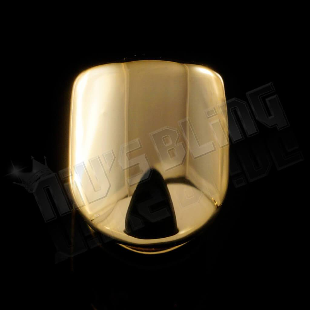 Affordable Gold Single Top Tooth Hip Hop Grill Cap - Black Background