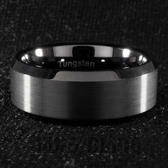 Rings - Black Tungsten Carbide Ring 8MM