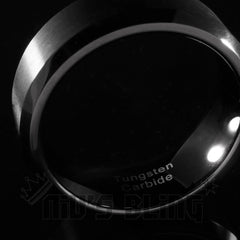 Black Tungsten Carbide Ring 8MM