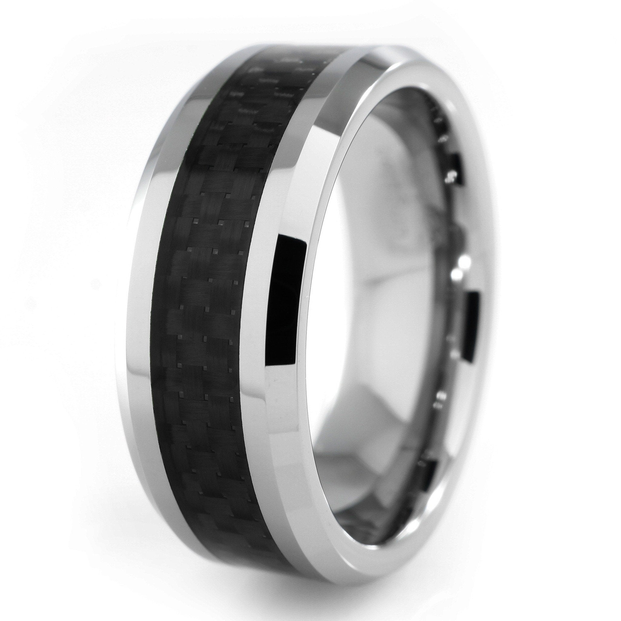 Black Carbon Fiber Silver Tungsten Carbide Ring 8mm  Niv. Eternity Band Settings. Promise Rings. Silver Anklet With Charm. Double Diamond. Logos Diamond. Used Gold Jewellery. Child Gold Jewellery. Forever Engagement Rings