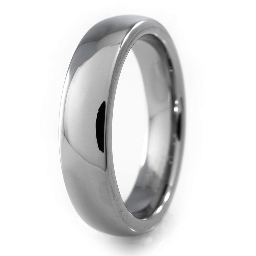 Tungsten Carbide Silver Polished Wedding Ring