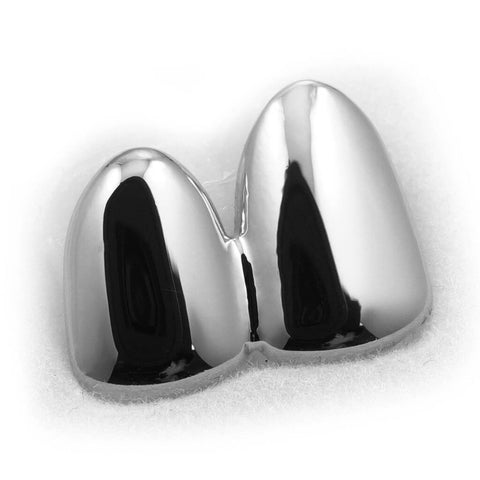 Silver Double Top Two Tooth Cap