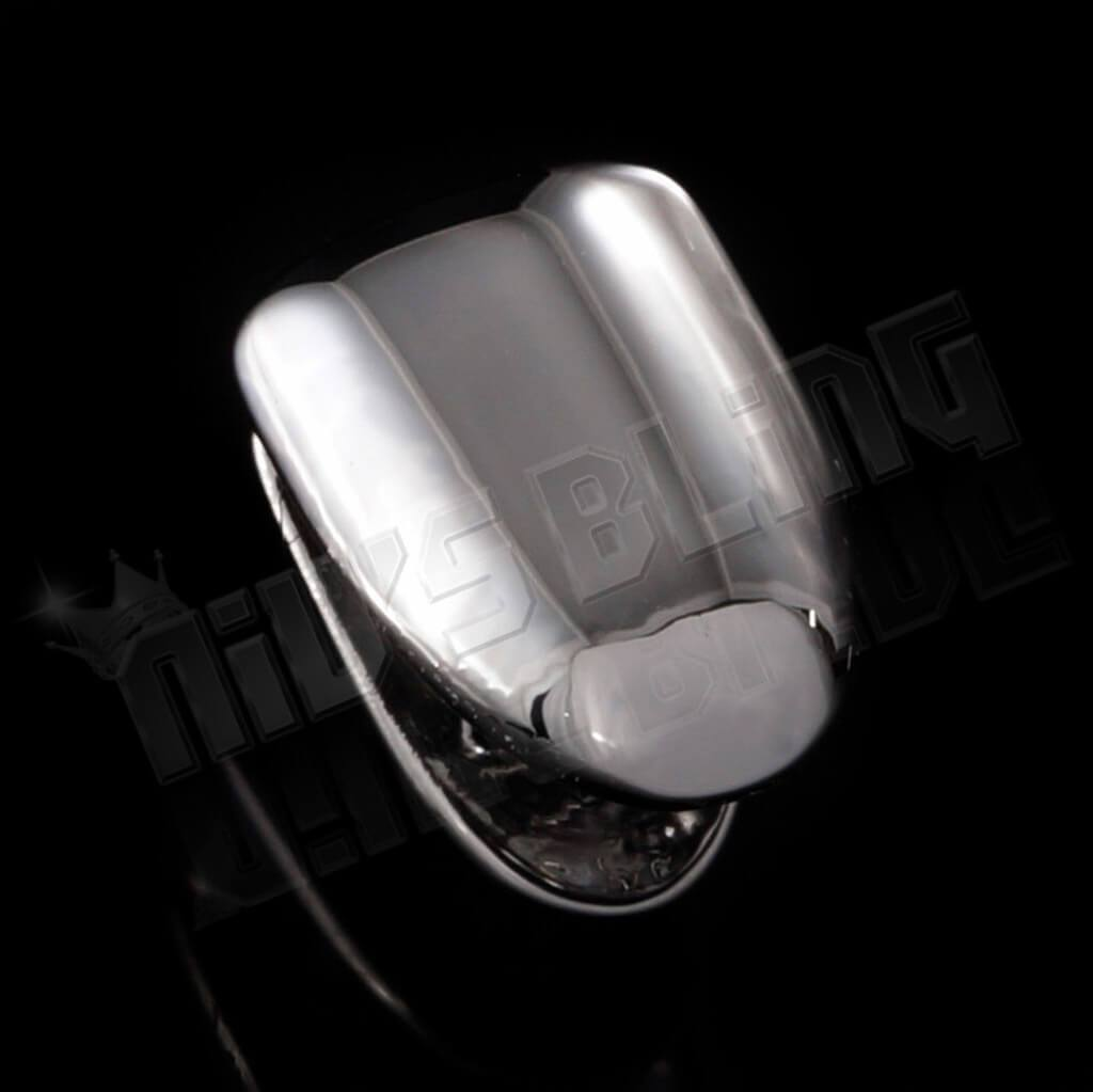 Affordable Silver Single Tooth Bottom Hip Hop Grill Cap - Side View