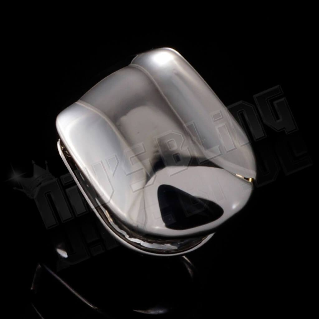 Silver Single Top Tooth Grill Cap