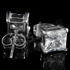Stainless Steel Square Stud Earrings